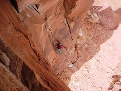 Rock Climbing Photo: Jordon from the roof.  North sixshooter.  April 26...
