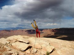 Rock Climbing Photo: Jordon atop North Sixshooter Peak.  April 26th 200...