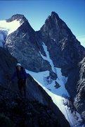 Rock Climbing Photo: Graham Quan climbing on Moonraker during the FA wi...