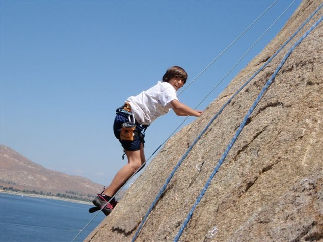 Rock Climbing Photo: My friends son Jimmy on the Hard Trough. His first...