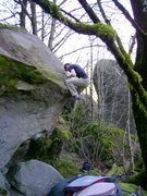 Rock Climbing Photo: Turning the lip