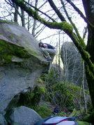 Rock Climbing Photo: Feet up