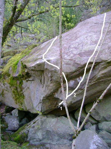 Rock Climbing Photo: 1. Nautilus V10 2. Leviathan V9