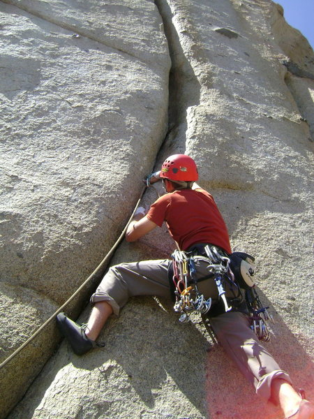 Rock Climbing Photo: Eric sinking his tips into the start of Pump Facto...