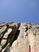 Rock Climbing Photo: Past the main difficulties, Eric enjoys a break fr...