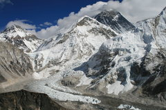 Rock Climbing Photo: khumbu Ice fall with Everest in background