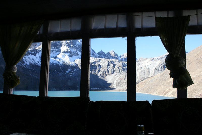 View from the tea house at Gokyo