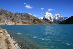 Rock Climbing Photo: looking across the lake to Gokyo