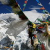 Prayer flags and more incredible mountains
