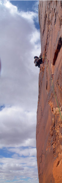 Rock Climbing Photo: 2nd to last pitch... awesome location
