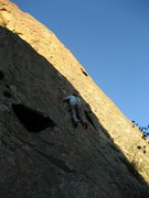 Rock Climbing Photo: A short way up the first pitch, easy sport lead.  ...
