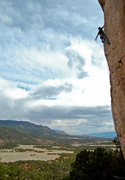 Rock Climbing Photo: Kai Huang on Little Mecca 12a/b Shelf Road, CO.  P...
