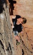 Rock Climbing Photo: Myles Lawler on Regroovable 11b, Shelf Road, CO. P...