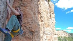 Sean Smith on Regroovable 11b, Shelf Road, CO. Photo by Phill Tearse.