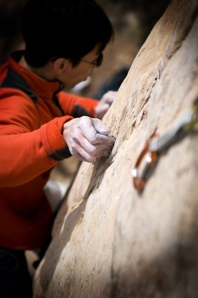 Rock Climbing Photo: Kai Huang on Cro-Magnum 12ab, Shelf Road, CO. Phot...