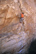 Rock Climbing Photo: Just past the crux on Clean and Jerk. Spring '06. ...