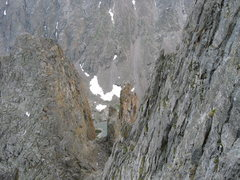 Rock Climbing Photo: A view of the Petit from above.