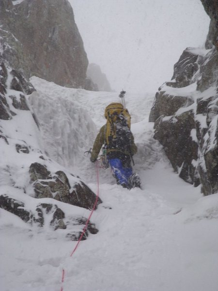Tom in the Willis Couloir