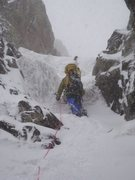 Rock Climbing Photo: Tom in the Willis Couloir