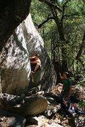 Rock Climbing Photo: Pulling the bulge.
