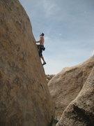 Rock Climbing Photo: Getting high above the desert on Alright Arete (V-...