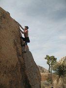 Rock Climbing Photo: Near the top of Illicit Sweetie (V0), Joshua Teee....