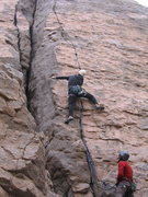 Rock Climbing Photo: J. Howland on one end, Matt Hern on the other.