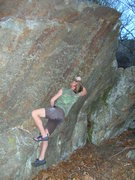 Rock Climbing Photo: Melin brewing for a send on Identifiable Percolati...