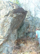 Rock Climbing Photo: The Wave Boulder as you come up the hill.