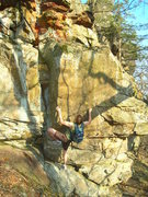 Rock Climbing Photo: More Potential. Melin working up the arete.
