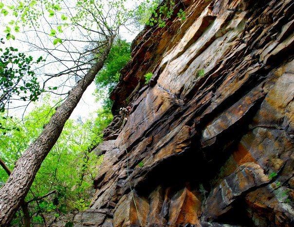 Rock Climbing Photo: Nearing the anchors on Shady Lady.