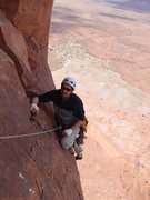 Rock Climbing Photo: alan glad that we are not going up the crack direc...