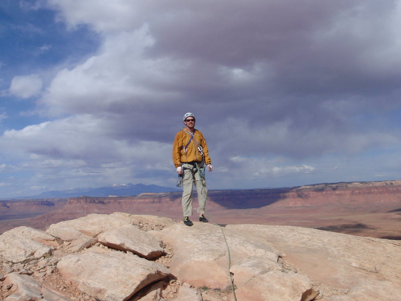 Alan at the top of N six shooter