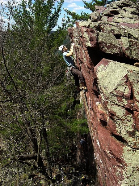 Rock Climbing Photo: Sometime Direct.  Amazing route!  May 09.  Photo T...