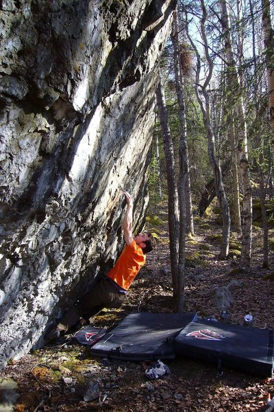 "Rock Climbing Photo: Tom Scupp on the 2nd Ascent of ""Finger on the..."