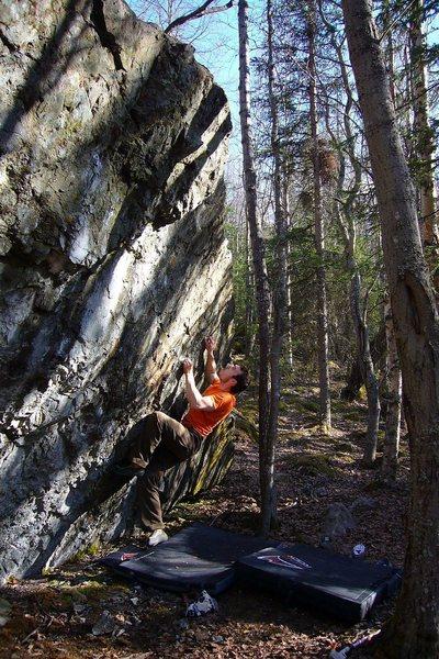 """Tom Scupp on the 2nd Ascent of """"Finger on the Trigger"""", Alaska V5 -"""