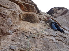 Rock Climbing Photo: At the third clip and ready for the super fun roof...