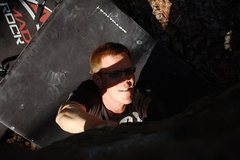 "Rock Climbing Photo: Jared LaVacque entering the crux of ""A Steady..."