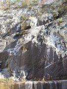 Rock Climbing Photo: This is the middle section of the upper and lower ...