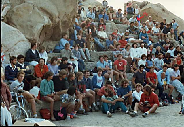 From the Rubidoux climbing Comp 1983. Found this photo posted by Lynne Leichtfuss on SuperTopo.