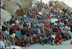 Rock Climbing Photo: From the Rubidoux climbing Comp 1983. Found this p...