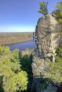 Rock Climbing Photo: Necedah, WI. Fire Spire. Henning Boldt on Fire in ...