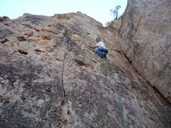 Rock Climbing Photo: At the nice ledge below the second bolt.