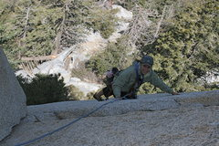 Rock Climbing Photo: Taquitz - Fingertrip Agina just below the pitch 1 ...