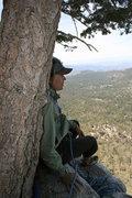 Rock Climbing Photo: Taquitz - Fingertrip Agina pitch 1 belay.