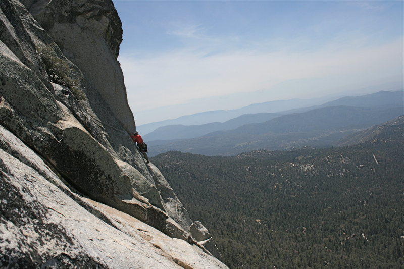 Rock Climbing Photo: William Carlson at the step around near the top of...