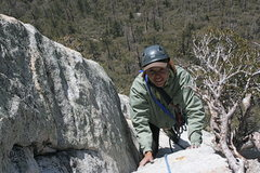 Rock Climbing Photo: Taquitz - Fingertrip Agina getting to Lunch Ledge.