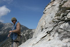 Rock Climbing Photo: Taquitz -  Top of Fingertrip with the west face bu...