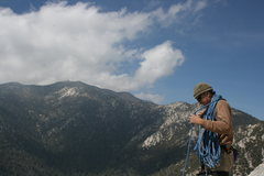 Rock Climbing Photo: Taquitz -  Top of Fingertrip clouds comin back in.