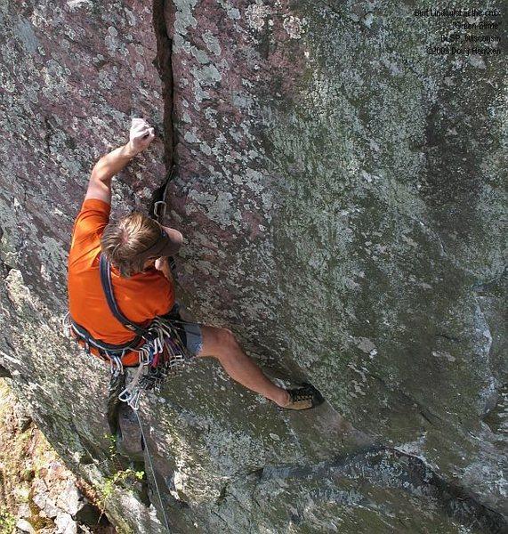 Rock Climbing Photo: Burt, just starting the crux.